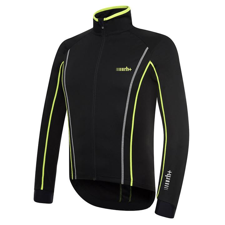 rh+ Sprint zwart-neongeel Light Jacket, voor heren, Maat L, Fiets jack, Wielerkl