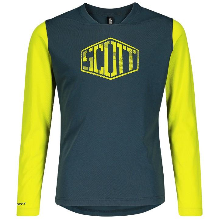 SCOTT Kindershirt met lange mouwen Trail Dri bikeshirt, Maat S, Kinder fietsshir