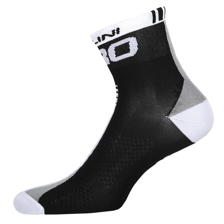 NALINI PRO Pro, zwart-wit fietssokken, voor heren, Maat 2XL,