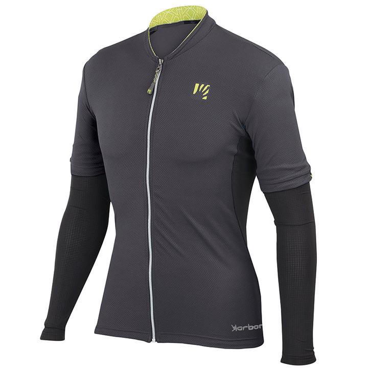 KARPOS Siusi, donkergrijs fietsshirt met korte mouwen, voor heren, Maat M, Fiets