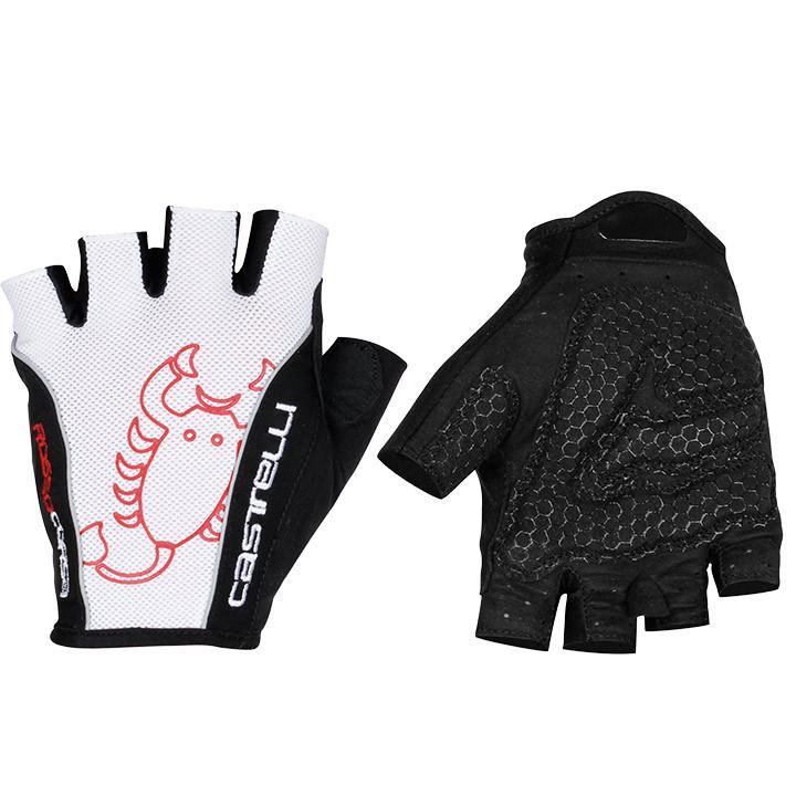 CASTELLI fietsRosso Corsa Classic, wit-zwart handschoenen, voor heren, Maat 2XL,