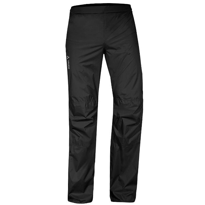 VAUDE Drop II, zwart regenbroek, voor heren, Maat L, Fietsbroek, Regenkleding