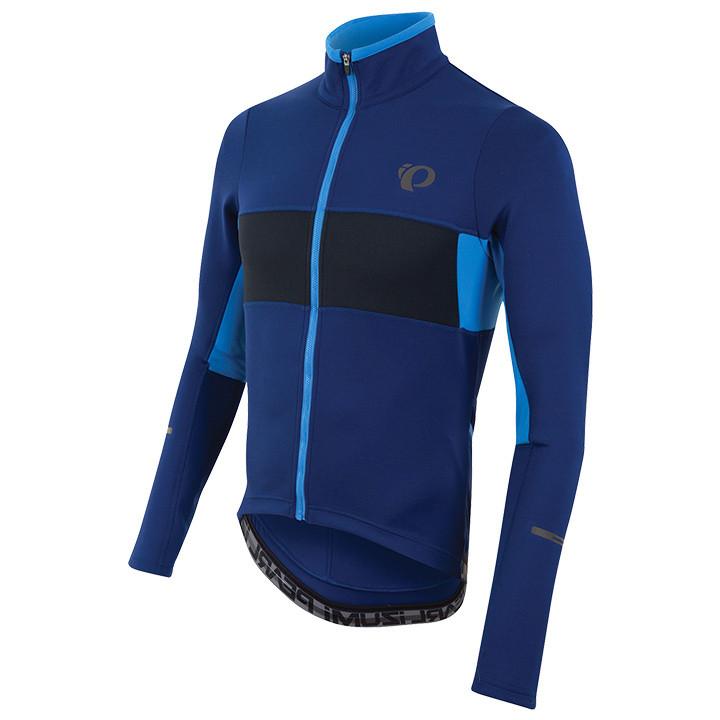 PEARL IZUMI Shirt met lange mouwen Escape blauw-zwart fietsshirt met lange mouwe
