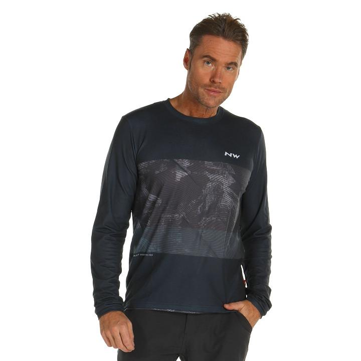 NORTHWAVE Fietsshirt met lange mouwen XTrail bikeshirt, voor heren, Maat L, Fiet