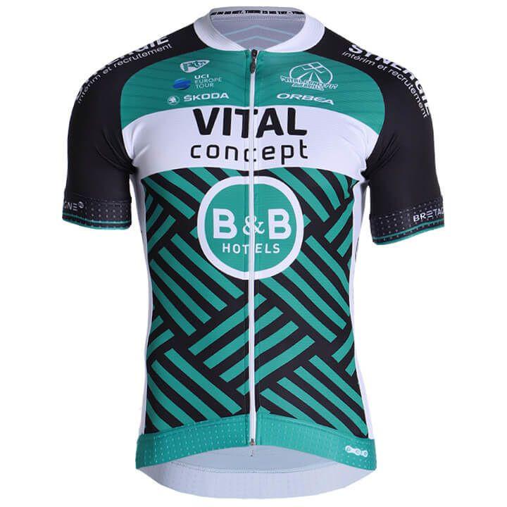 VITAL CONCEPT-B&B Hotels 2019 fietsshirt met korte mouwen, voor heren, Maat S, F