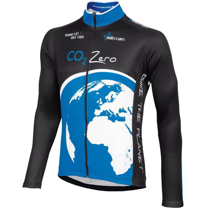 Wielershirt, BOBSTARS jersey met lange mouw CO² Zero fietsshirt met lange mouwen