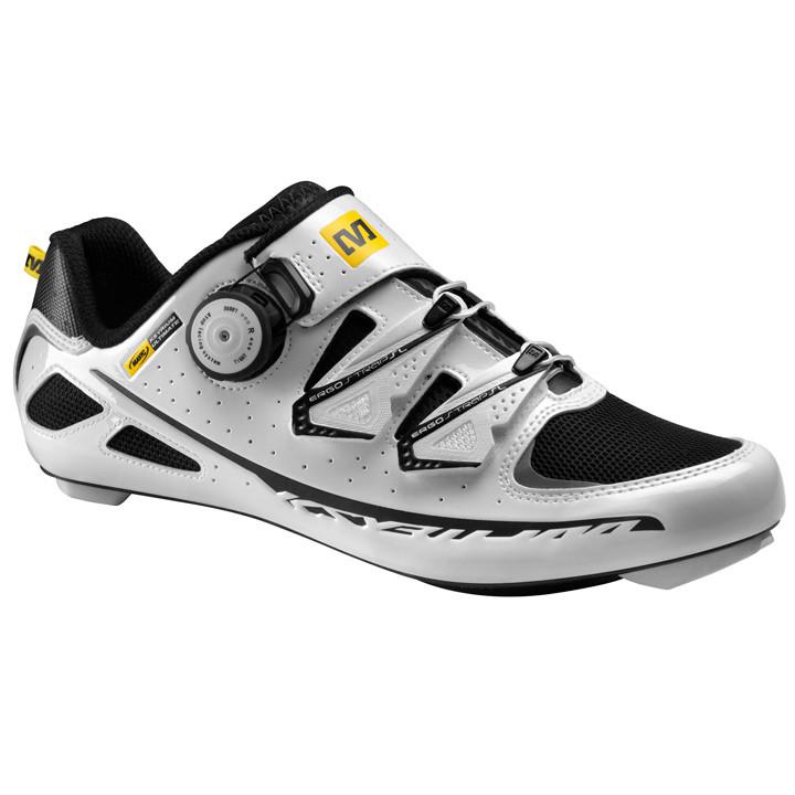 MAVIC Ksyrium, wit-zwart raceschoenen, voor heren, Maat 9, Racefiets schoenen, F