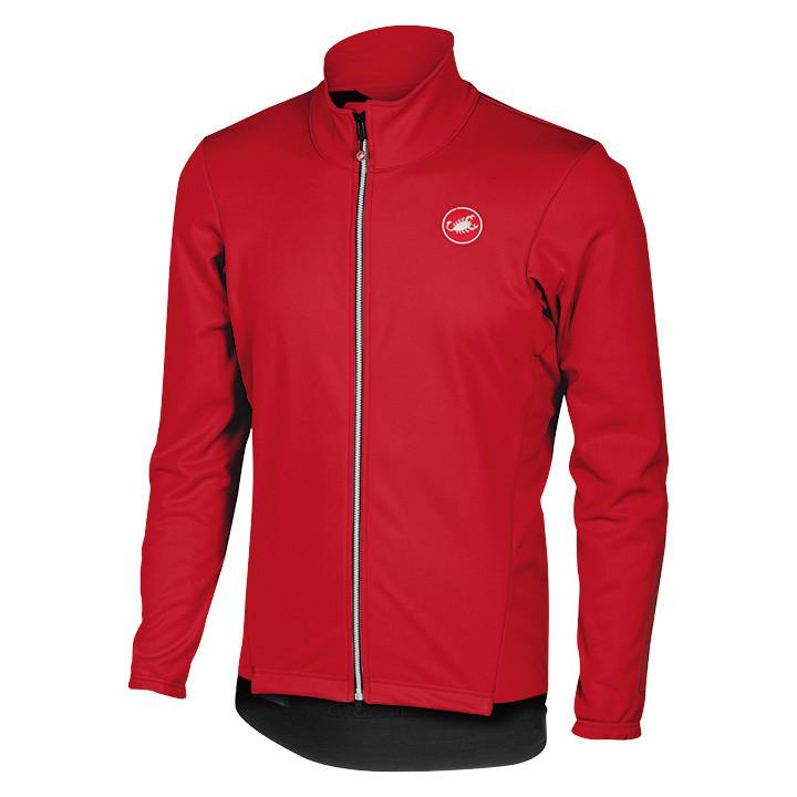 CASTELLI winterjack Senza 2 rood Thermojack, voor heren, Maat S, Fiets jas, Fiet
