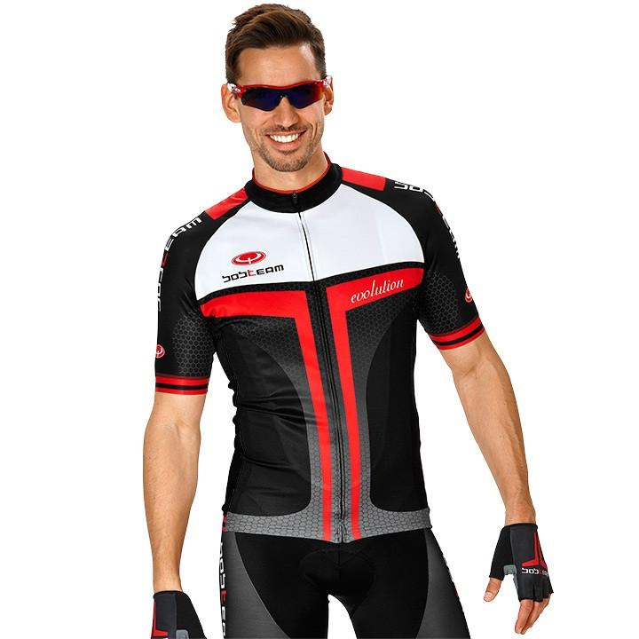 Fiets shirt, BOBTEAM EVOLUTION 2.0 fietsshirt met korte mouwen, zwart-rood