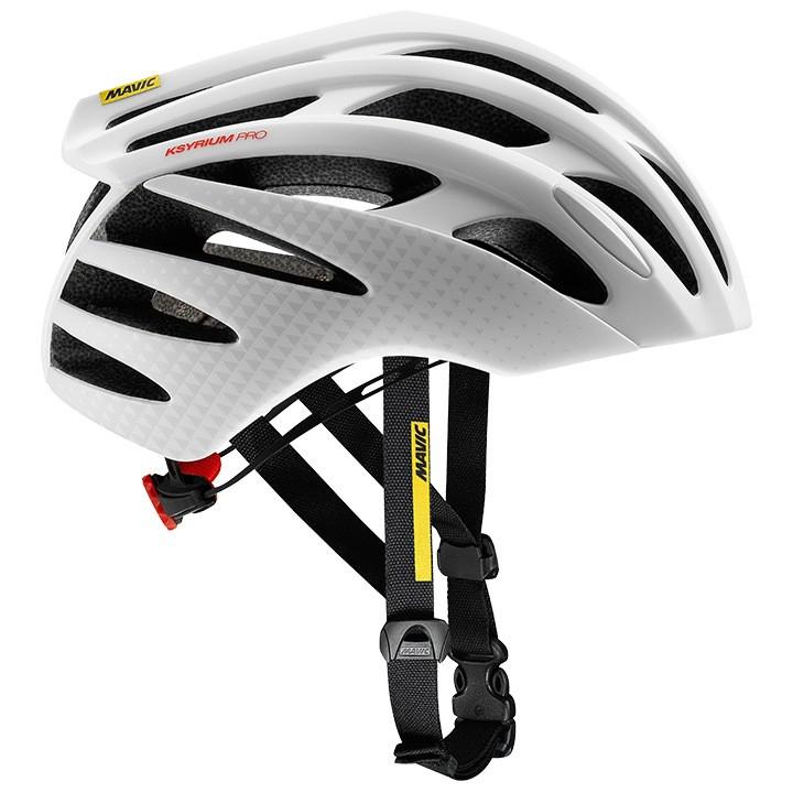 MAVIC raceKsyrium Pro 2018 wit-zwart fietshelm, Unisex (dames / heren), Maat M,