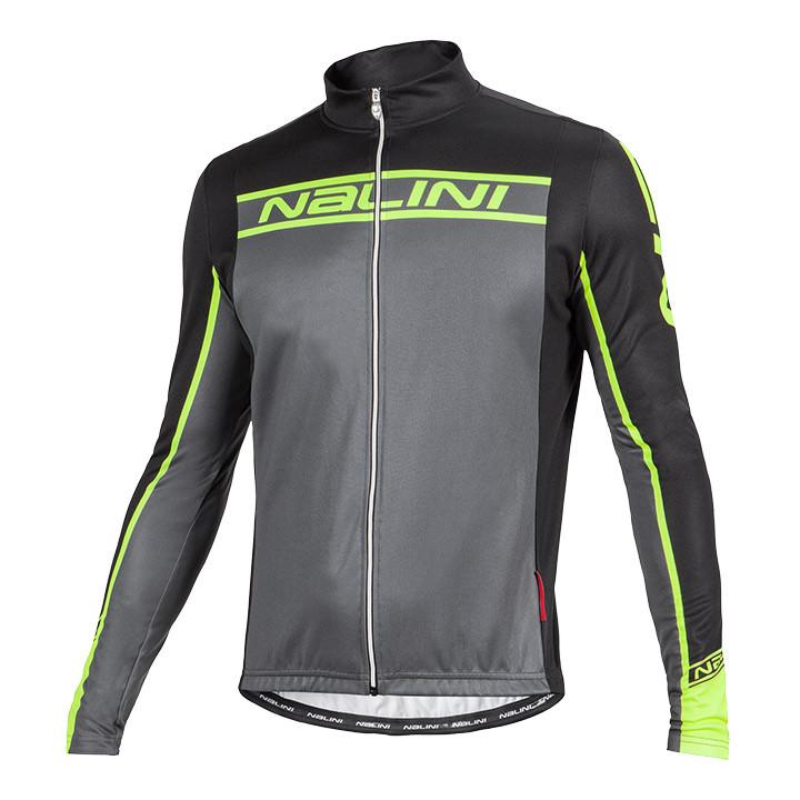 NALINI PRO shirt met lange mouwen Confine zwart-neongeel fietsshirt met lange mo