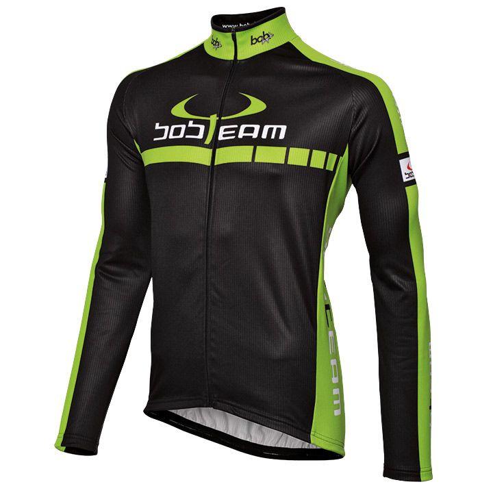 Fietsshirt, BOBTEAM Colors fietsshirt met lange mouwen, voor heren, Maat M, Fiet