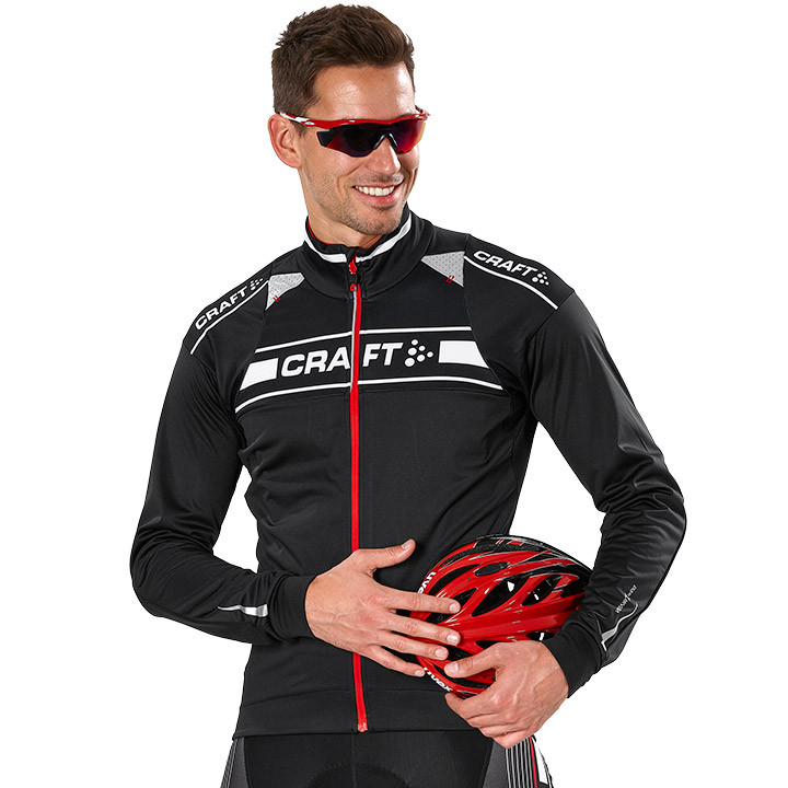 CRAFT fietsjack Grand Tour Storm zwart-wit Light Jacket, voor heren, Maat M, Fie
