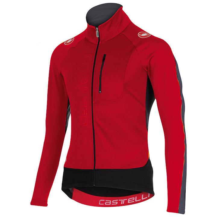 CASTELLI Trasparente 3 rood-antraciet-wit Light Jacket, voor heren, Maat M, Fiet