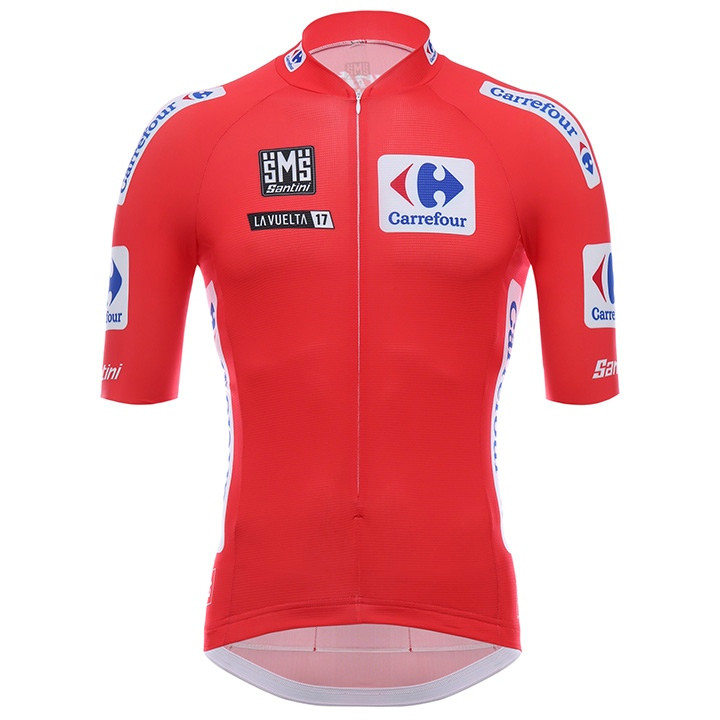 LA VUELTA Maillot Rojo 2017 fietsshirt met korte mouwen, voor heren, Maat XL,