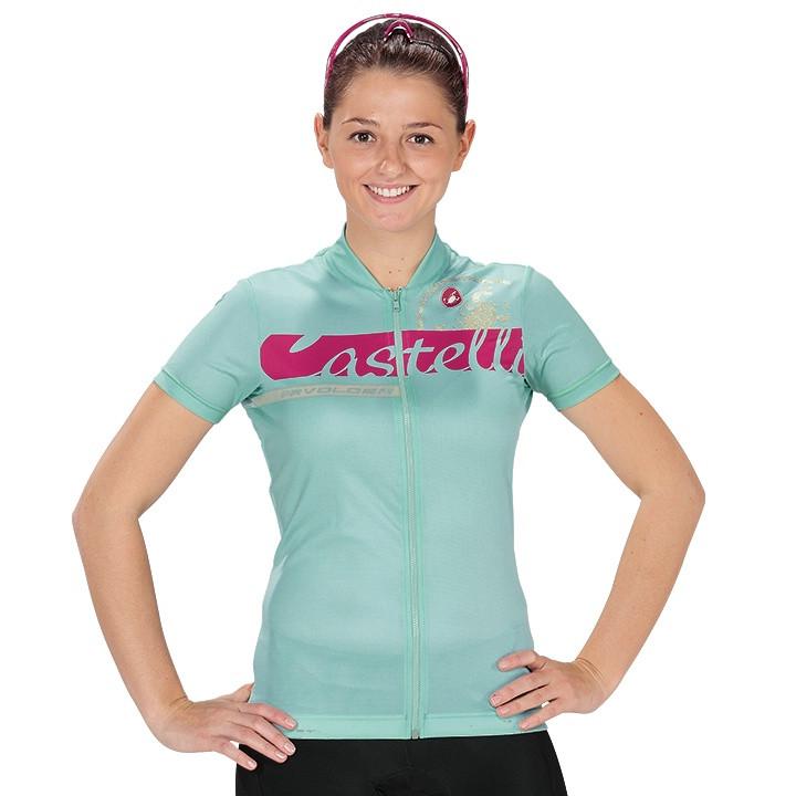 CASTELLI damesshirt Favolosa damesfietsshirt, Maat XL, Wielershirt,