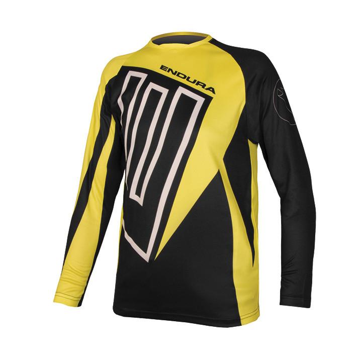 ENDURA kinder-met lange mouwen MT500 bikeshirt, Maat S, Kinder fietsshirt,