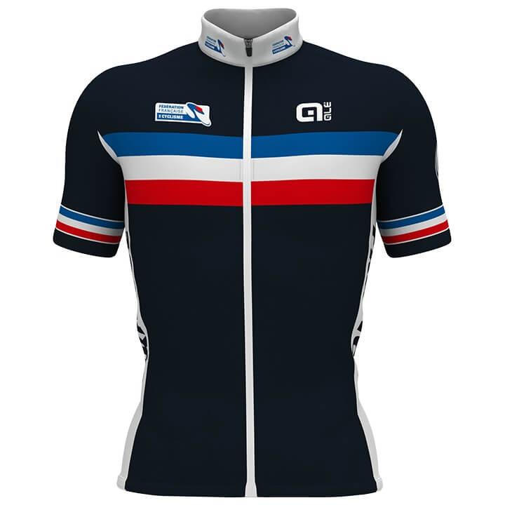 FRANSE NATIONAL TEAM 2019 fietsshirt met korte mouwen, voor heren, Maat XL, Wiel