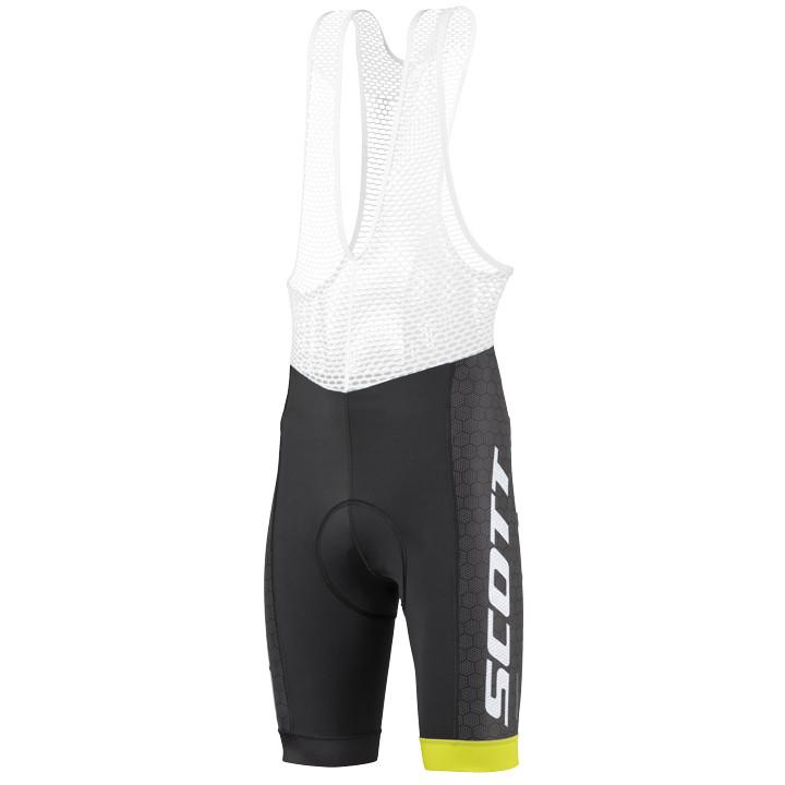 SCOTT korte broek met bretels RC Pro Tec zwart-geel korte koersbroek, voor heren