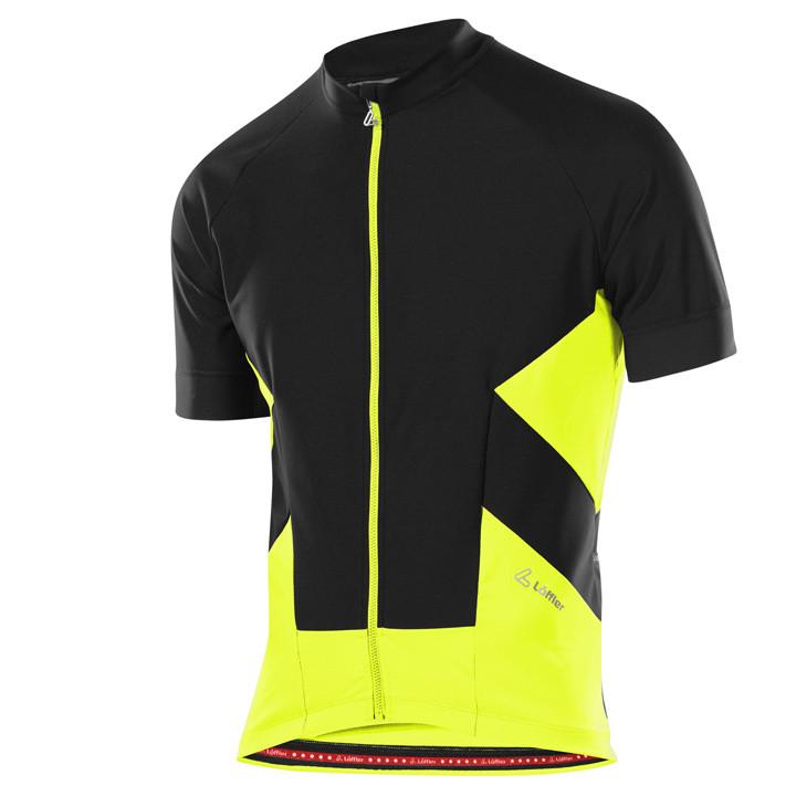 LÖFFLER light jacket met korte mouwen Windstopper zwart-geel Light Jacket, voor