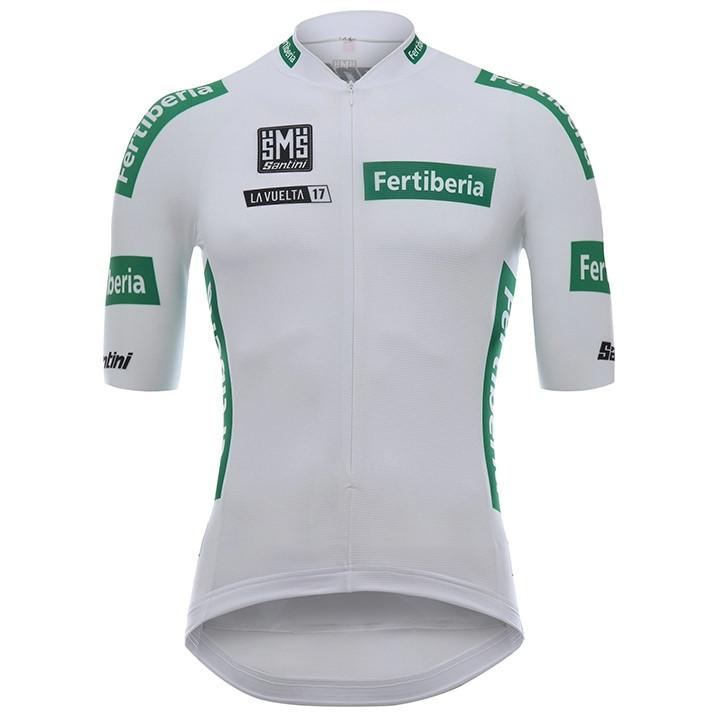 LA VUELTA Maillot Blanco 2017 fietsshirt met korte mouwen, voor heren, Maat XL,