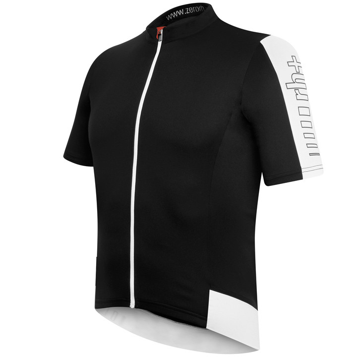 RH+ Energy, zwart-wit fietsshirt met korte mouwen, voor heren, Maat M, Fietsshir