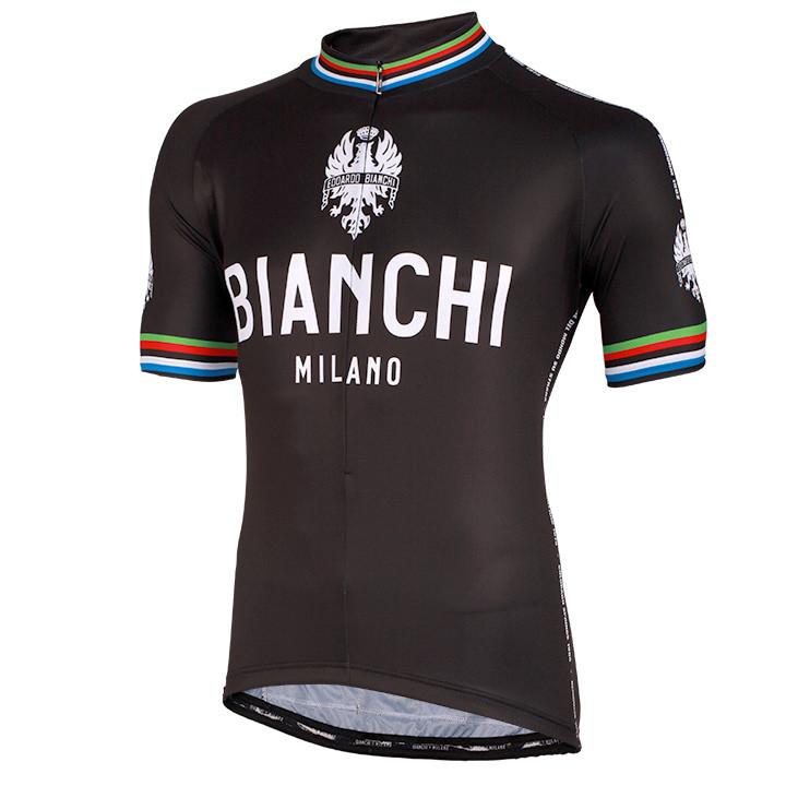 BIANCHI MILANO Pride, zwart fietsshirt met korte mouwen, voor heren, Maat 2XL,