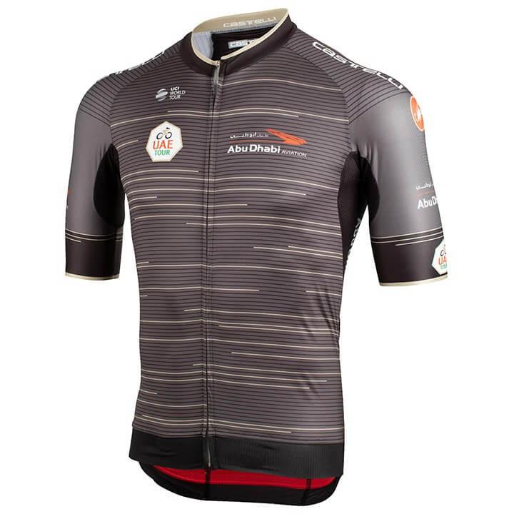 UAE Tour 2019 fietsshirt met korte mouwen, voor heren, Maat M, Fietsshirt, Wiele