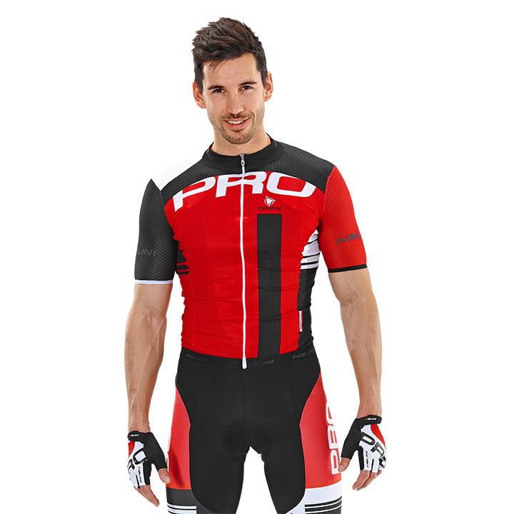 NALINI PRO Lato, rood-zwart fietsshirt met korte mouwen, voor heren, Maat M, Fie