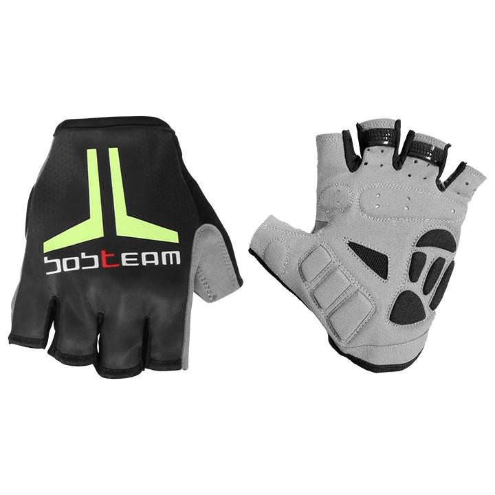 Fietshandschoenen, BOBTEAM Evolution 2.0 zwart-neongeel handschoenen, voor heren