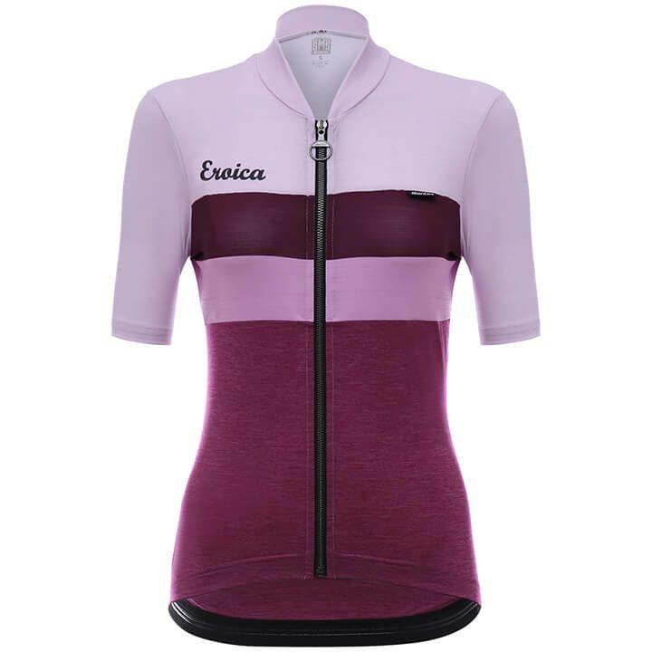 SANTINI Shirt met korte mouwen Eroica Cielo damesfietsshirt, Maat L, Fietsshirt,