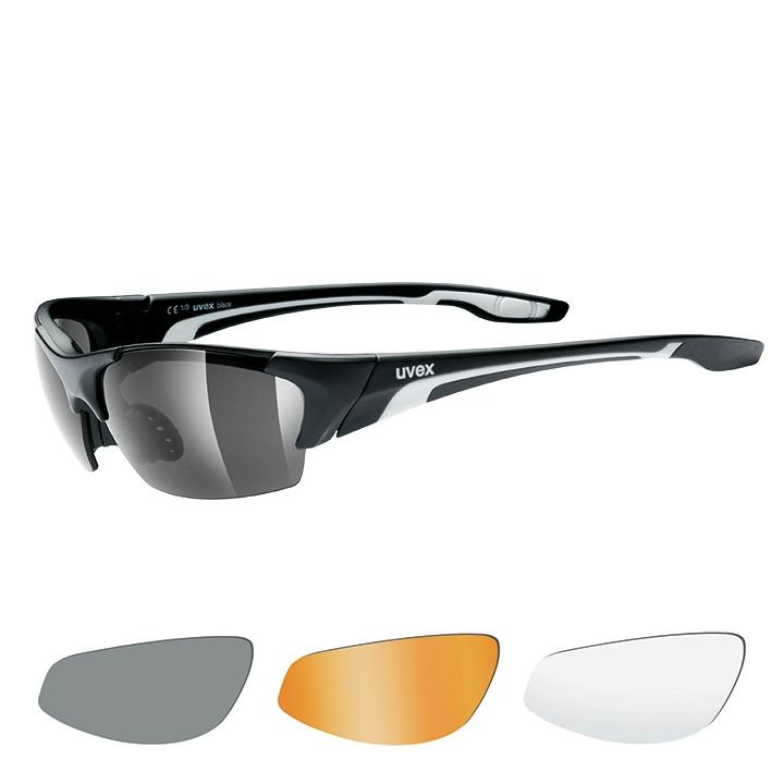 UVEX brillenset Blaze III 2019 mat zwart bril, Unisex (dames / heren),