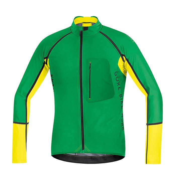 GORE Alp-X Pro WS SO Zipp Off, groen-geel Light Jacket, voor heren, Maat M, Fiet
