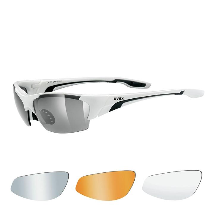 UVEX brillenset Blaze III 2019 wit-zwart bril, Unisex (dames / heren),