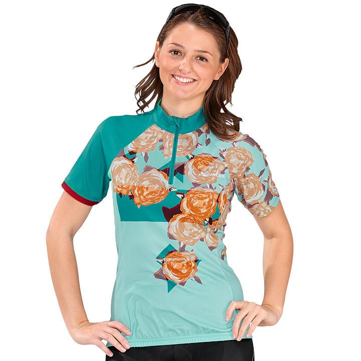 VAUDE damesshirt met korte mouwen Tomaly damesfietsshirt, Maat 40, Wielren
