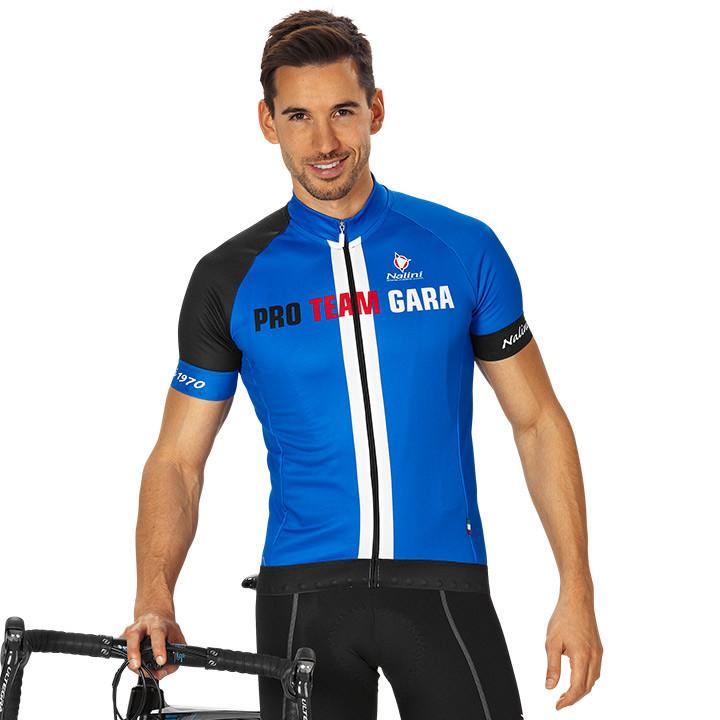 NALINI PRO Gara, blauw-zwart fietsshirt met korte mouwen, voor heren, Maat S, Wi