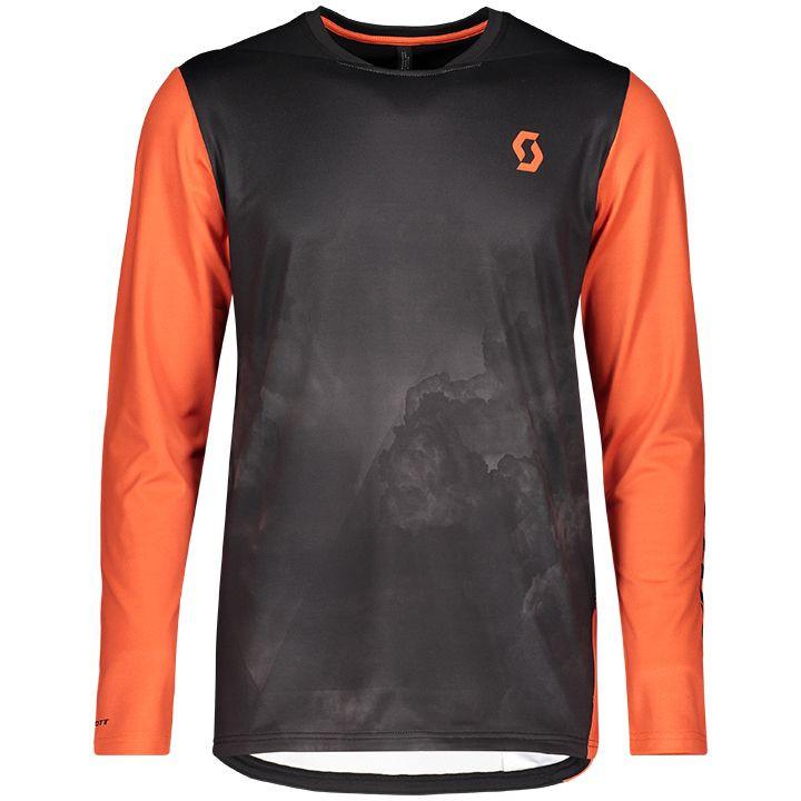 SCOTT Fietsshirt met lange mouwen Trail Storm bikeshirt, voor heren, Maat M, Fie