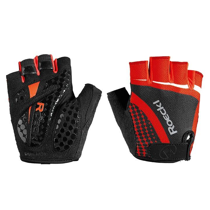 ROECKL Balino, zwart-rood handschoenen, voor heren, Maat 7, Fietshandschoenen,