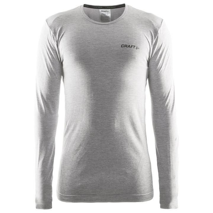 CRAFT fietsmet lange mouwen Active Comfort grijs melange onderhemd, voor heren,