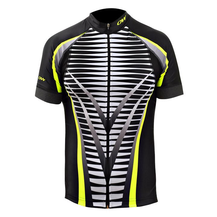 ONE WAY Icerio zwart fietsshirt met korte mouwen, voor heren, Maat S, Wielrenshi