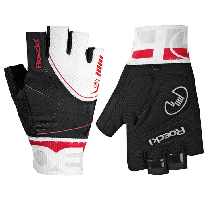 ROECKL Bergamo, zwart-wit-rood handschoenen, voor heren, Maat 7, Fietshandschoen