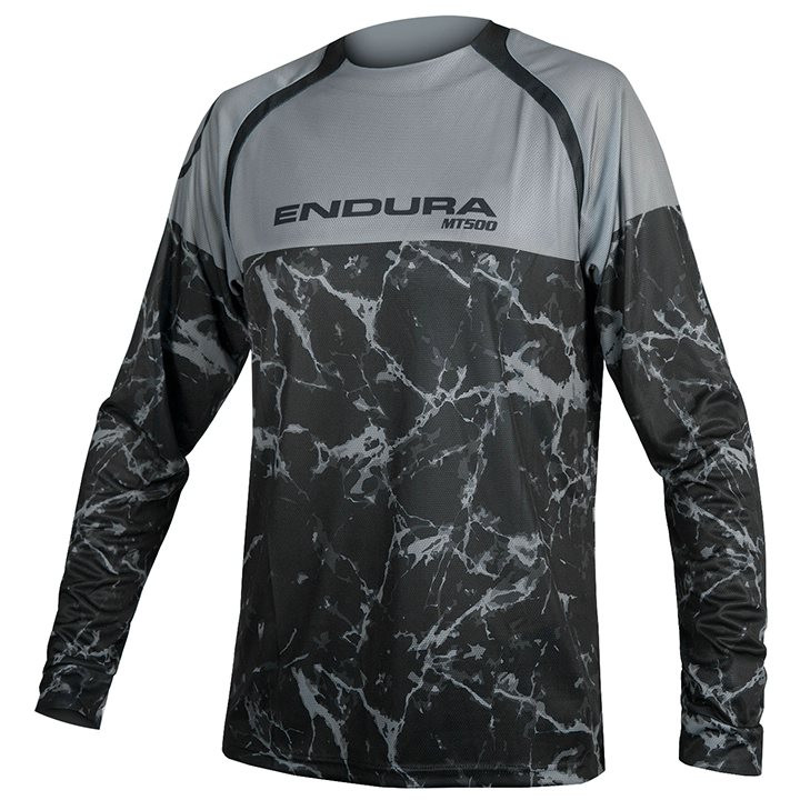 ENDURA Fietsshirt met lange mouwen MT500 Marble LTD bikeshirt, voor heren, Maat