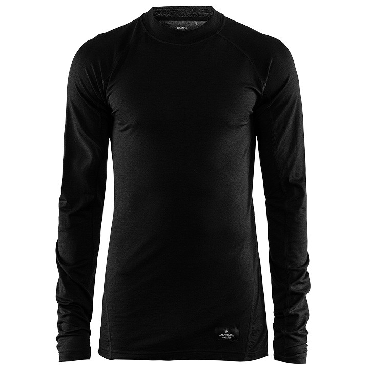 CRAFT Fietsmet lange mouwen Merino Lightweight onderhemd, voor heren, Maat S,