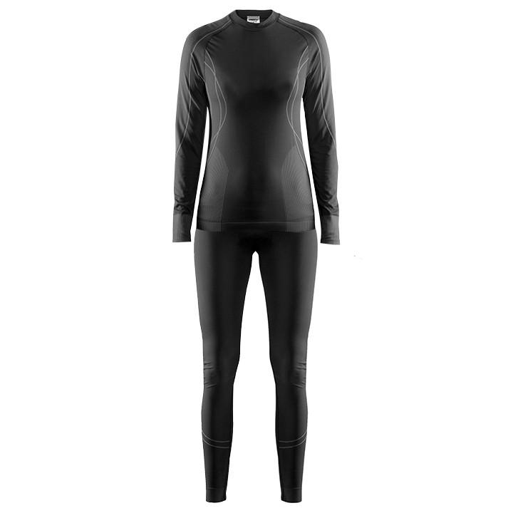 CRAFT dames ondergoedset Seamless Zone (2 delen) zwart-antraciet, Maat M, Onderh
