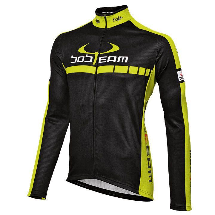 Wielershirt, BOBTEAM Colors fietsshirt met lange mouwen, voor heren, Maat XL, Fi