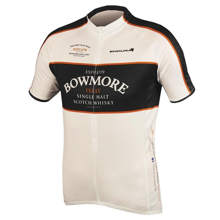 ENDURA Bowmore Whisky, zwart fietsshirt met korte mouwen, voor heren, Maat M,