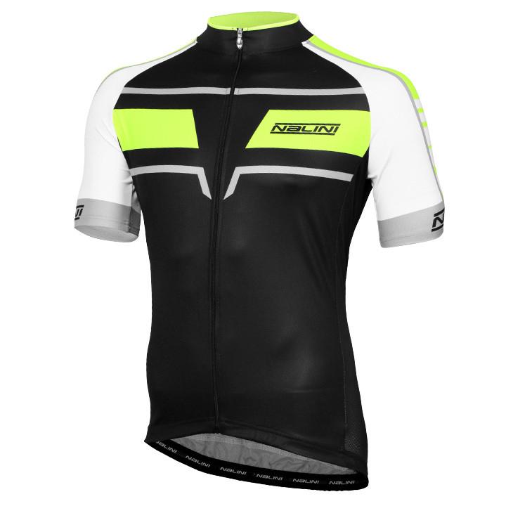 NALINI PRO shirt met korte mouwen Pavia zwart-neon geel-wit fietsshirt met korte