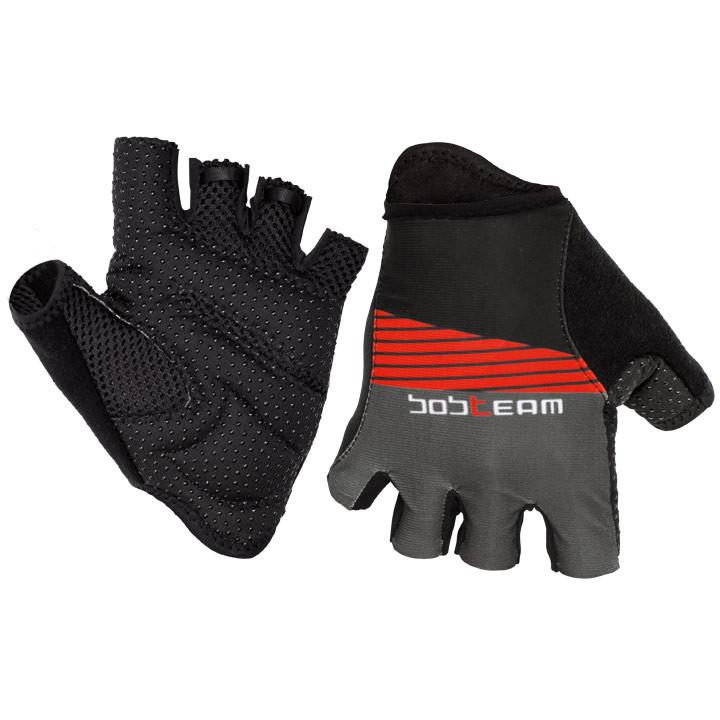 Fietshandschoenen, BOBTEAM fietsPerformance Line II zwart/titaan handschoenen, v