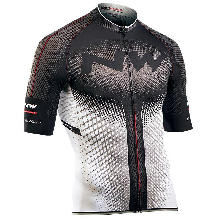 NORTHWAVE shirt met korte mouwen Extreme wit-zwart fietsshirt met korte mouwen,