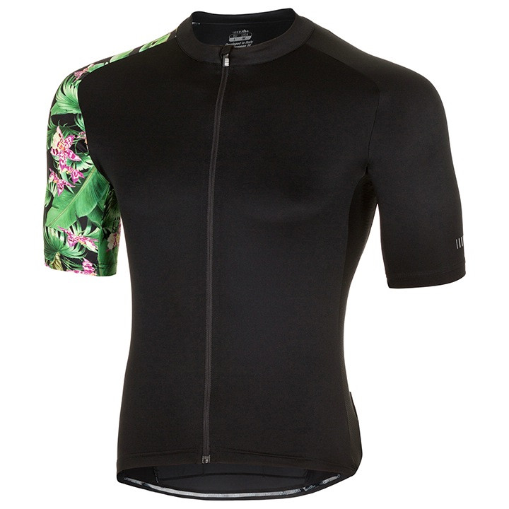 rh+ Shirt met korte mouwen Flower Power fietsshirt met korte mouwen, voor heren,